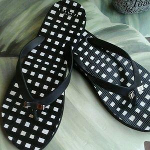 COACH Shoes - COACH AMEL  CHECKERED FLIP-FLOPS SIZE LARGE 9-10